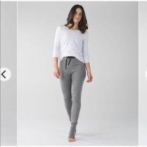Lululemon Gray Sweet Savasana Sweater Knit Tights